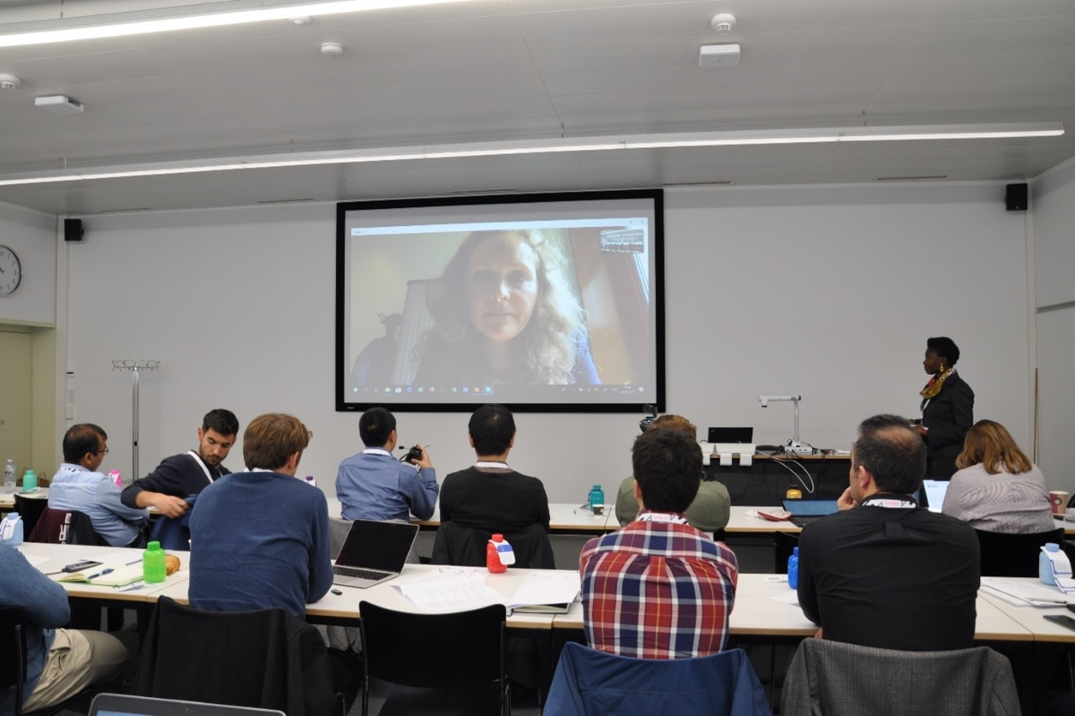 Prof Tatiana Filatova during her virtual keynote speech.