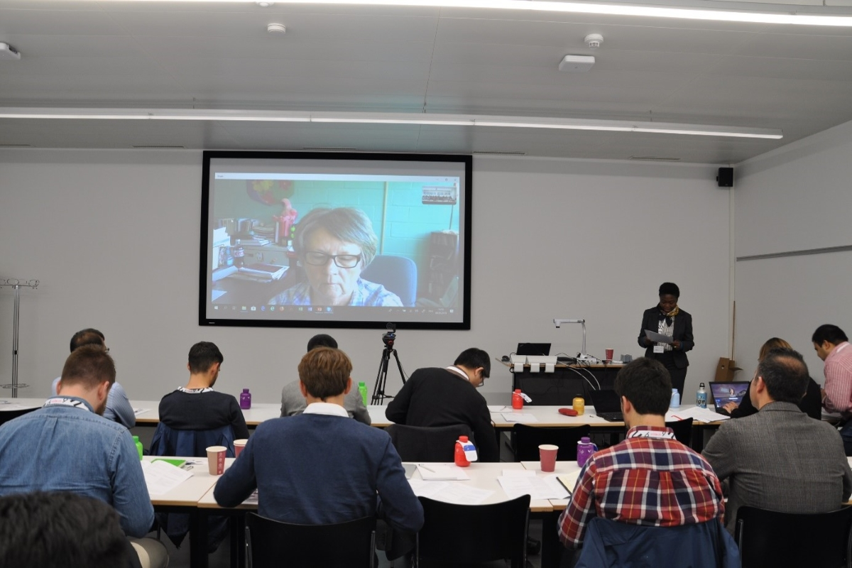 Prof Susan Cutter during her virtual keynote speech.