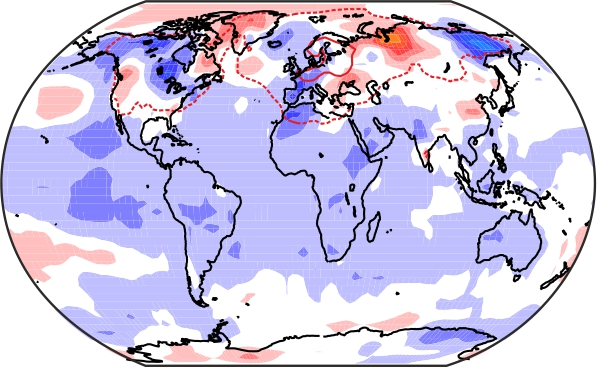 World map showing modelled climate data