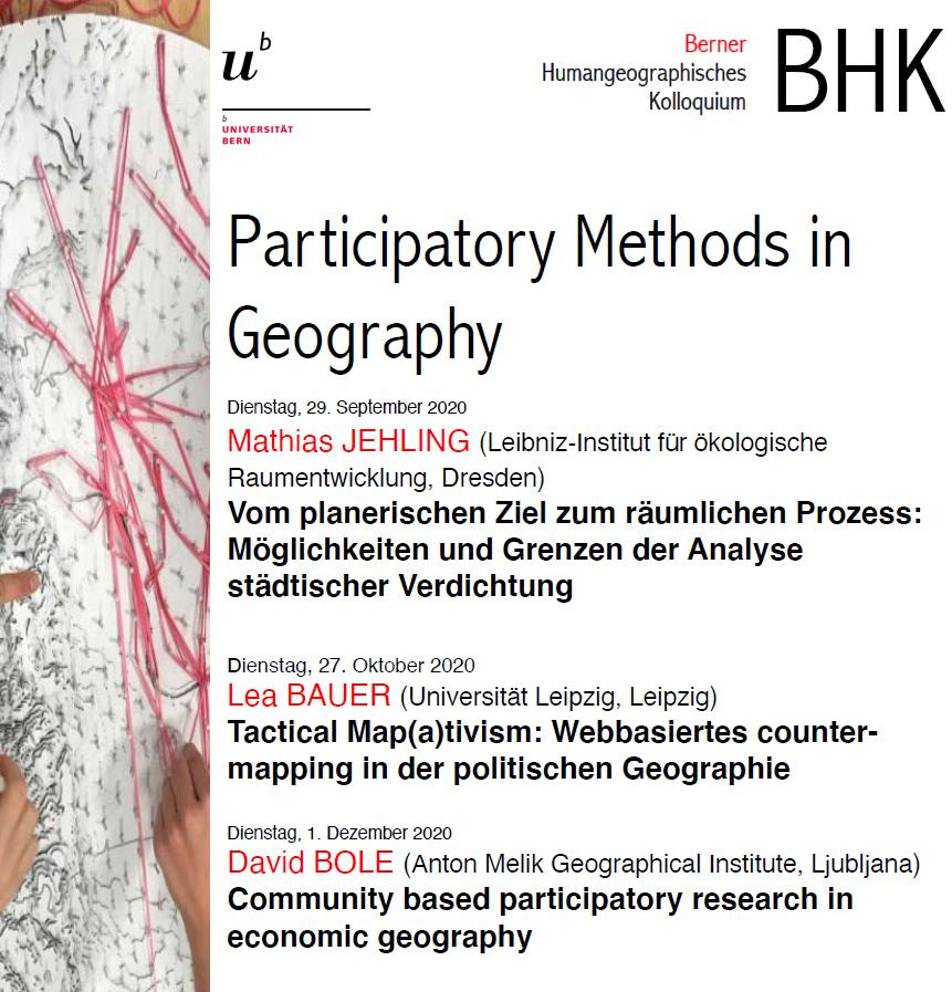 Flyer BHK Digital Geographies HS20